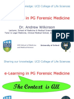E-learning in Pg Forensic Medicine