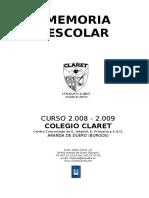 MEMORIA Definitiva Consejo Escolar 08-09