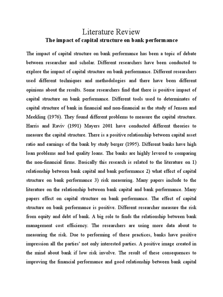 Pecking order theory literature review
