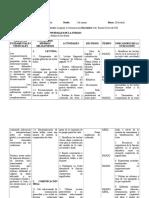 Planificación Octavos Basicos 2012