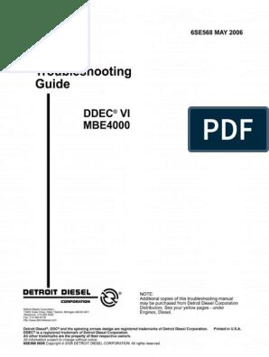 Manual de fallas MBE4000 pdf | Exhaust Gas | Diesel Engine