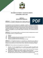 Propuesta Reglamento Transito y Vialidad Del Municipio de Monterrey
