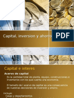Capital, Inversion y Ahorro