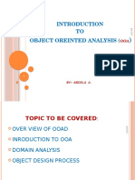 Object Oriented -Analysis