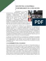 5 Problemas Que Afectan a Guatemala