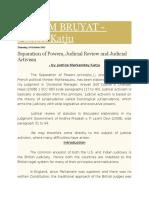 Judicial Restrain and Activism