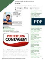 Concurso Prefeitura de Contagem - Edital, Vagas, Inscrição Concurso 2016.pdf