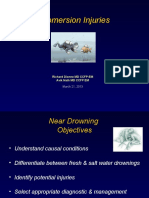 Submersion Injuries Dr Dionne and Dr Nath 2013