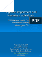 Cognitive Impairment and Homeless Individuals