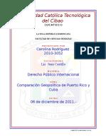 COMPARACION Geopolitica Puerto Rico y Cuba