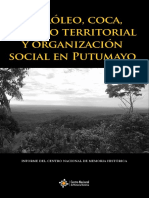 Petróleo, coca, despojo territorial y organización social en Putumayo