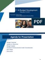 BOE Budget Update 02162017