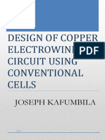 Design of Copper Electrowinning Circuit using Conventional cells
