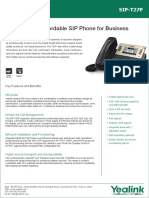 Yealink SIP-T27P Datasheet