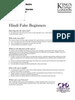 Hindi False Beginner