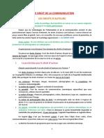 Fiche - Droit de La Communication CM