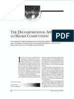 The Decompositional Approach to Matrix Computation