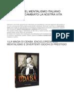 Mentalismo Italia Libri Fondamentali