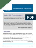 IG 2030 Resource Management
