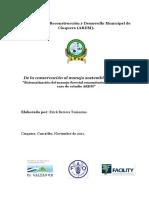 """De la conservación al manejo sostenible del bosque. """"Sistematización del manejo forestal comunitario en El Salvador, caso de estudio ARDM"""""""