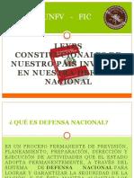 Leyes Constitucionales de Nuestro Pais Inversos en Nuestra Defensa Nacional