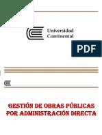 Gestión de Obras Públicas Por ADM DIRCTA