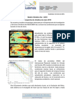 Boletin Climatico 1-2016