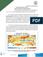 Boletin Climatico 9-2016