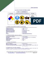 Hoja de seguridad HCL (Completa)