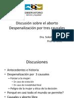 Discusión Sobre El Aborto - Despenalización Por Tres Causales
