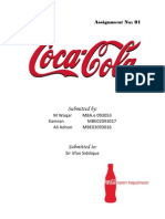 Organizational Management Assignment on Coca Cola