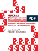 Memorias do XIII Congreso Latinoamericano de Investigadores de la Comunicación