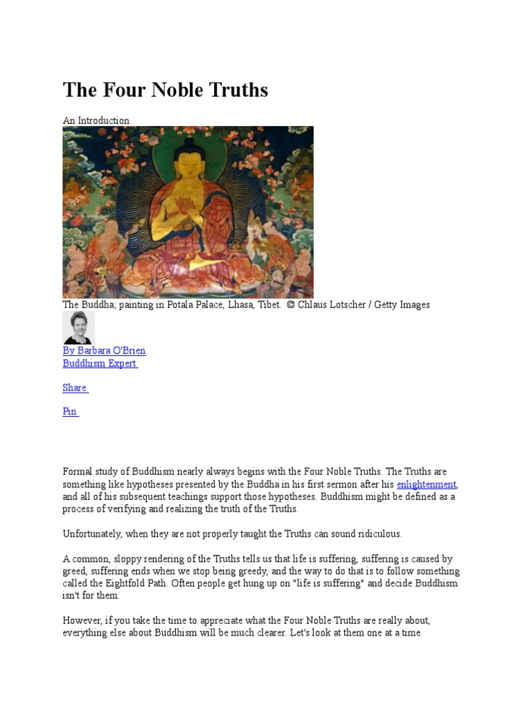 the four noble truths | four noble truths | buddhist philosophical