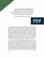 Algunas Características Lingüísticas de La Rioja