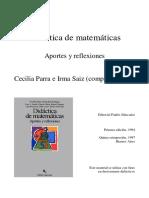 Didactica de matematicas - Aportes y reflexiones.pdf