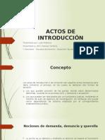 Actos de Introducción - TGP