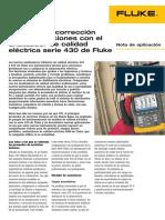 Deteccion y Correccion de Perturbaciones Con Analizador de Calidad Eletrcica Serie 430 de Fluke