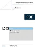 Business Statistics Level 3/Series 4 2008 (3009)