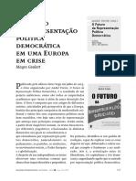 André Freire, O Futuro Político Do Sistema Representativo, Coimbra.