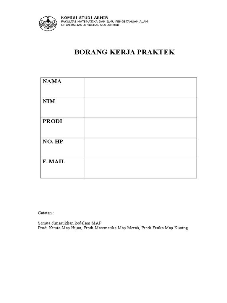 1 Borang Pendaftaran Kp Seminar Kp