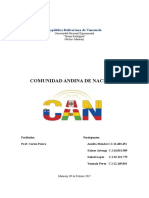 Comunidad Andina de Naciones Trabajo Compl