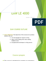 GW1-1 Course Content Assessment LE4000