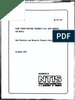 Plane Strain Fracture Toughness (Kic) Data Handbook for Metals