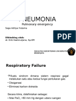 Respiratory Emergency (Respiratory Failure and Pneumonia)