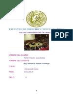 Facultad de Derecho y Ciencia Política Trabajo Exequatur