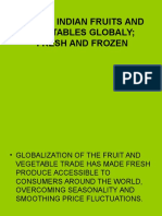 Taking Indian Fruits and Vegitables Globaly