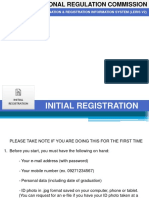 REGISTRATION FOR PRC