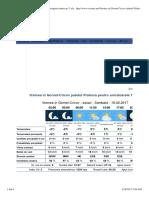 Vremea in Gornet-Cricov Judetul Prahova, Prognoza Meteo Pe 7 Zile