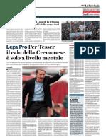 La Provincia Di Cremona 18-02-2017 - Calcio Lega Pro - Pag.1