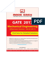 Mechanical Engineering GATE Sol Session Afternoon Session